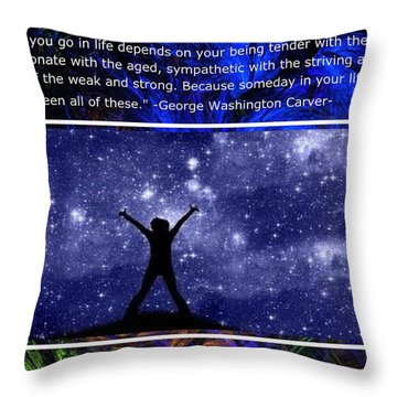 The Mystic Circle Inspirational Series One Three Throw Pillow