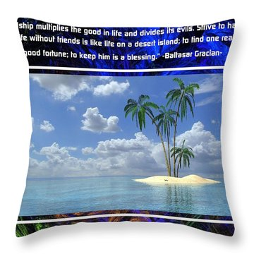The Mystic Circle Inspirational Series One Two Throw Pillow