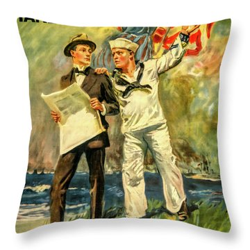 The Navy Needs You Throw Pillow
