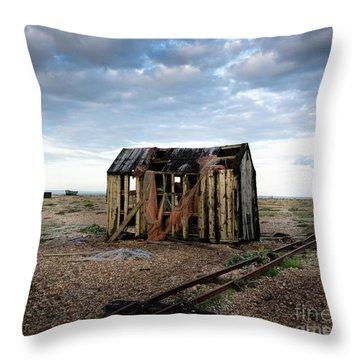 The Net Shack, Dungeness Beach Throw Pillow