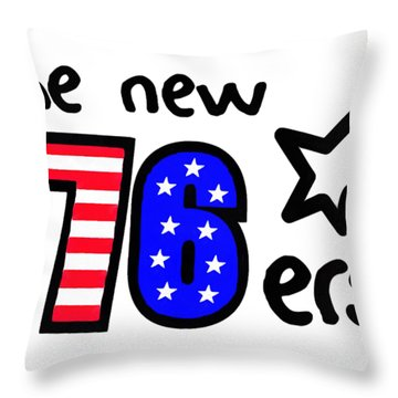 The New 76ers Throw Pillow