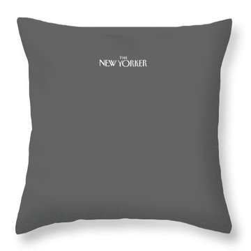 The New Yorker Logo - Back Of Apparel Throw Pillow