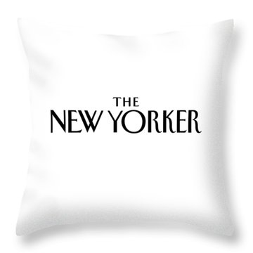 The New Yorker Logo Throw Pillow