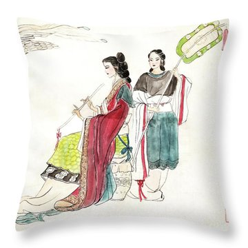 The Night Banquet    Throw Pillow