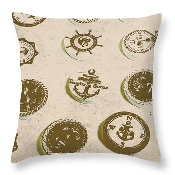 The Old Button Docks Throw Pillow