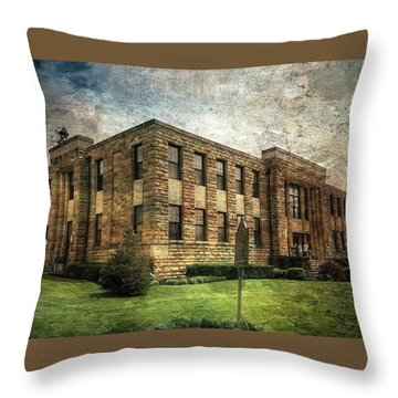 The Old County Courthouse Throw Pillow