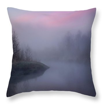 The Old River Throw Pillow