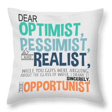 The Opportunist Throw Pillow