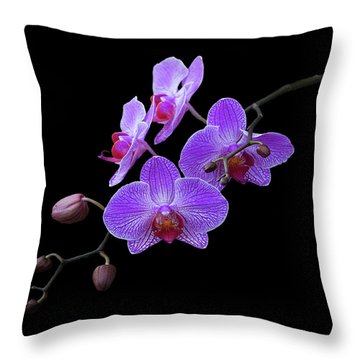 The Orchids Throw Pillow