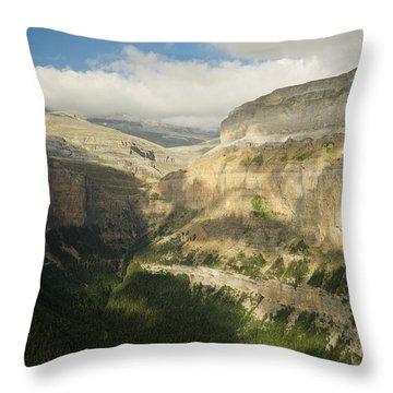 The Ordesa Valley Throw Pillow