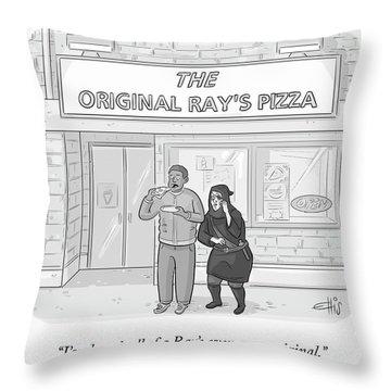 The Original Ray's Throw Pillow