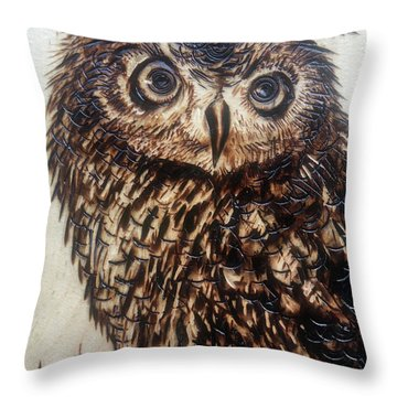 Pyrography Throw Pillows