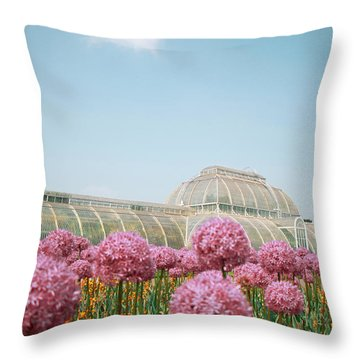 The Palm House Throw Pillow