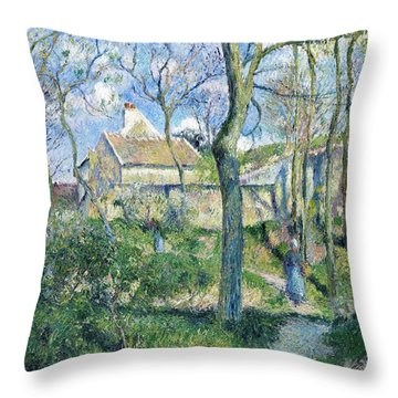 The Path To Les Pouilleux, Pontoise - Digital Remastered Edition Throw Pillow
