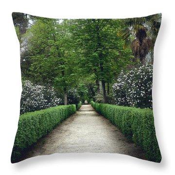 The Paths Of The Retiro Park Throw Pillow