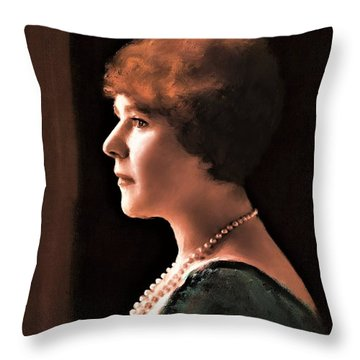 The Pearl Necklace Throw Pillow