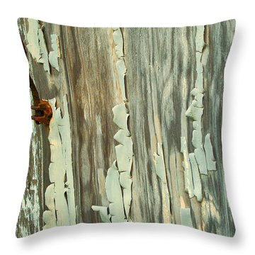 The Peeling Wall Throw Pillow