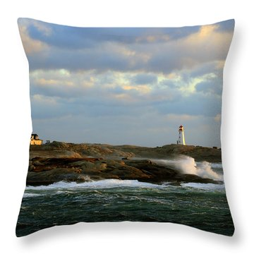 The Peggy's Cove Seascape Throw Pillow