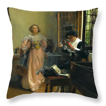 The Persistent Reader Throw Pillow