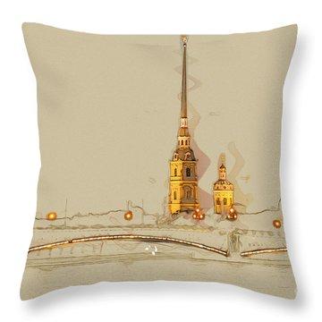 Night View Throw Pillows