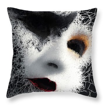 Throw Pillow featuring the digital art The Phantom Of The Arts by ISAW Company