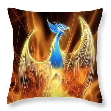 The Phoenix Rises From The Ashes Throw Pillow