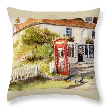 The Phone Box, Appledore Throw Pillow