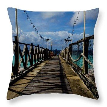 The Pier #3 Throw Pillow