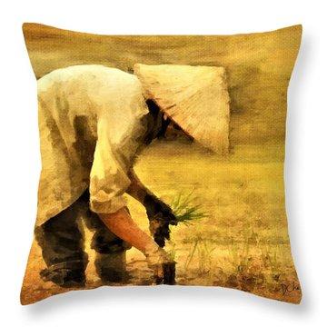 The Planter Throw Pillow