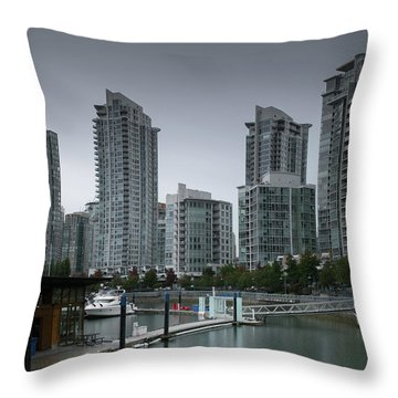 The Quayside Marina - Yaletown Apartments Vancouver Throw Pillow