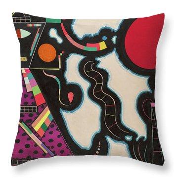 The Red Circle - Der Rote Kreis Throw Pillow
