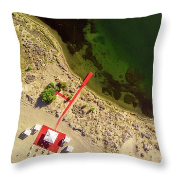 The Red Throw Pillow