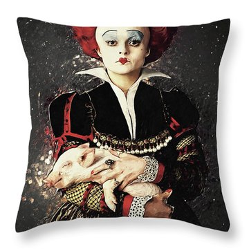 The Red Queen Throw Pillow