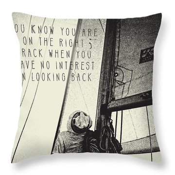 The Right Track Throw Pillow