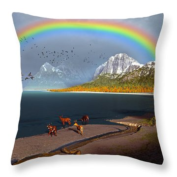 The Rings Of Eden Throw Pillow