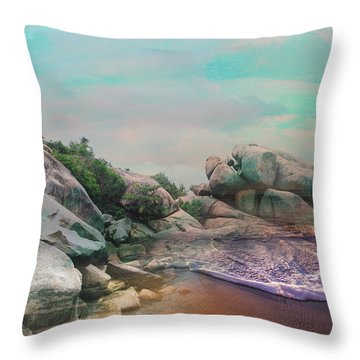 The Rising Tide Montage Throw Pillow