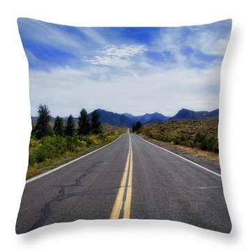 The Road Best Traveled Throw Pillow