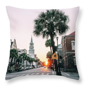 The Road Is Broad Throw Pillow