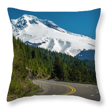 The Road To Mt. Hood Throw Pillow