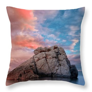 The Rock And The Sea Throw Pillow