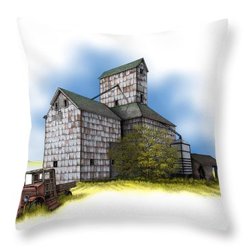 The Ross Elevator Autumn Throw Pillow