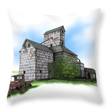 The Ross Elevator Summer Throw Pillow