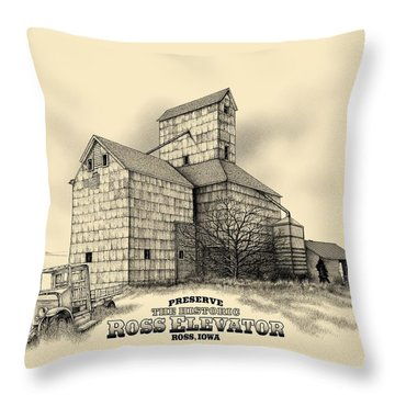 The Ross Elevator Version 2 Throw Pillow