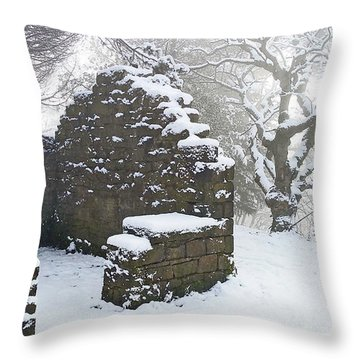 The Ruined Bothy Throw Pillow