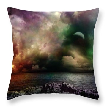 The Sacred Storm Throw Pillow
