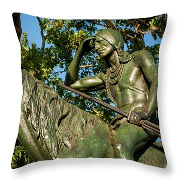 The Scout Statue II Throw Pillow