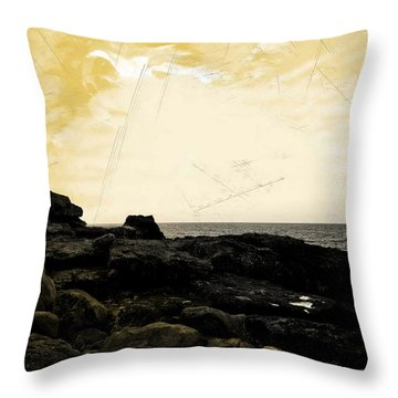 Throw Pillow featuring the photograph The Sea   by Lucia Sirna