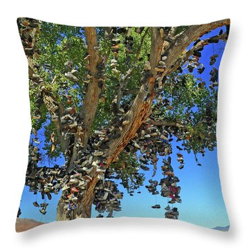 The Shoe Tree Throw Pillow