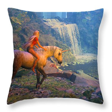 The Silver Horn Throw Pillow