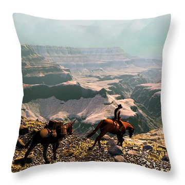 The Sinking Earth Throw Pillow